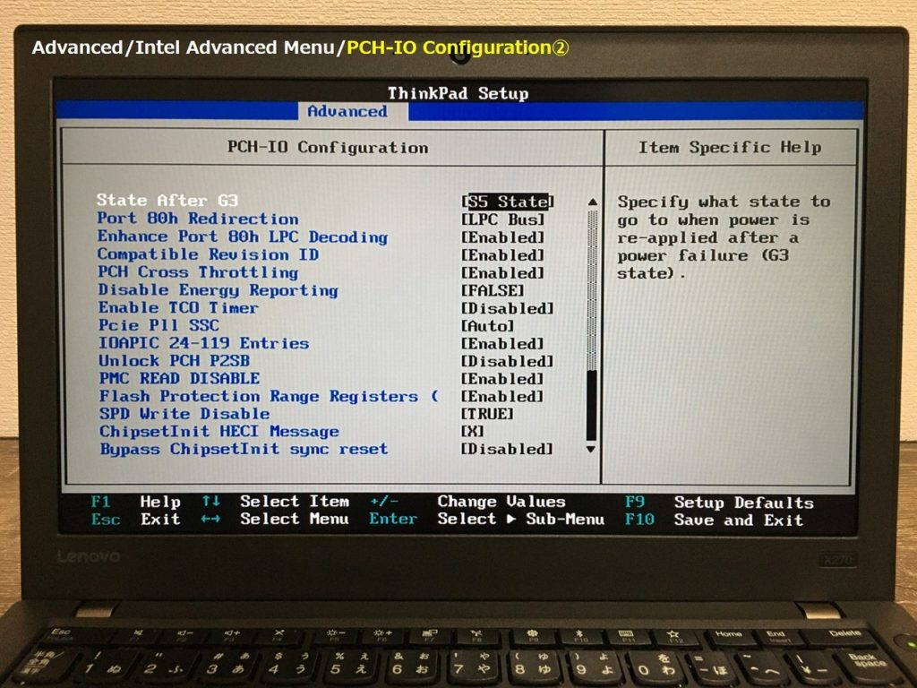 X270 PCH-IO Config②